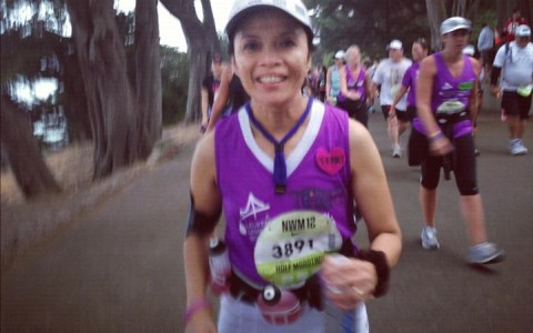 Running for Lourdes and cousin Beatriz.